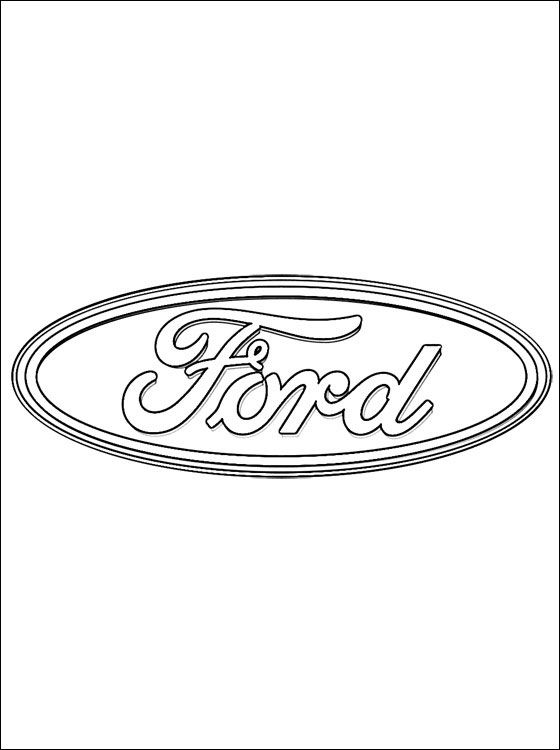 ford mustang gt emblem coloring pages   Coloring page Ford logo   Coloring pages   Ford mustang ...