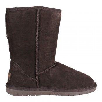 Minnetonka Olympia Damen Lammfellstiefel Boot Chocolate