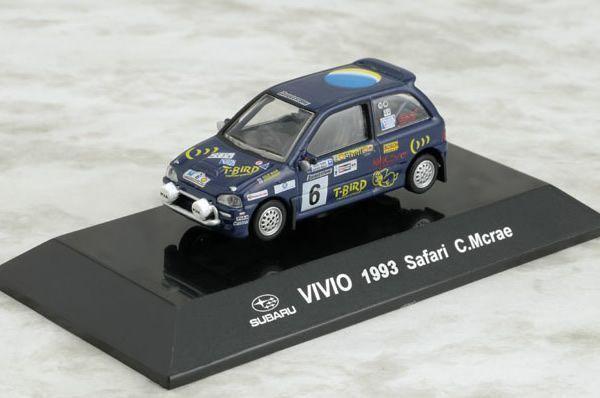 1/64 Diecast Figure CMs RALLY RACING CAR SUBARU VIVIO 1993 Safari Africa
