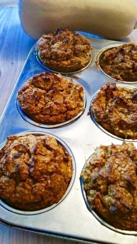 Muffins à la courge et amandes