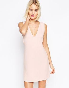 ASOS - Mini robe côtelée sans manches coupe droite