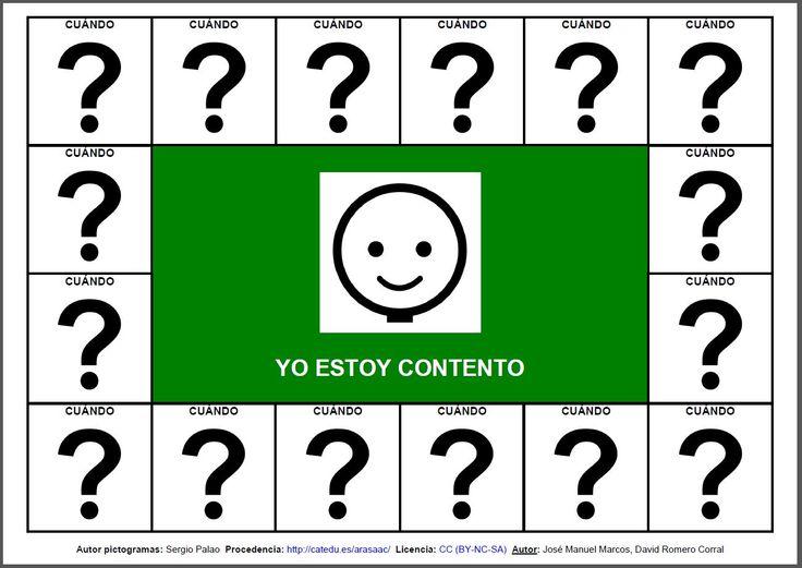 """Comunicación Aumentativa: """"Aprendo emociones: Contento-Triste"""" 1"""