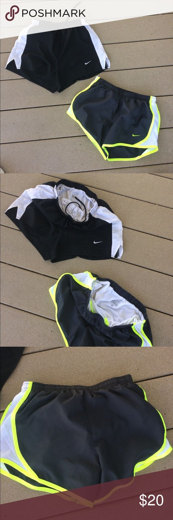 Girls Nike shorts size m Good shape black yellow are in great shape other pair has small mark on back Nike Bottoms Shorts