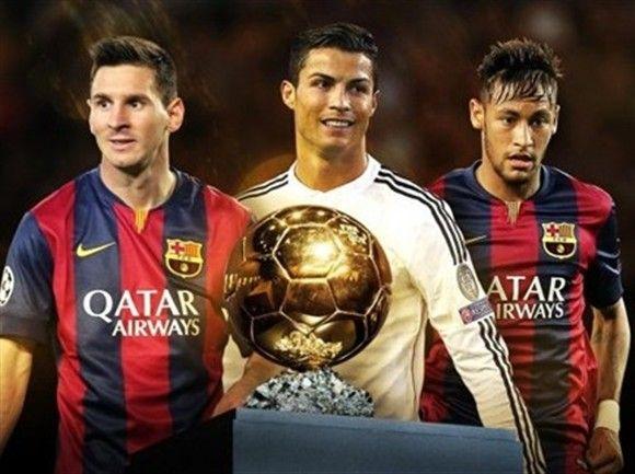 """Messi, Cristiano Ronaldo e Neymar são os três finalistas à """"Bola de Ouro"""" http://angorussia.com/desporto/messi-cristiano-ronaldo-e-neymar-sao-os-tres-finalistas-a-bola-de-ouro/"""