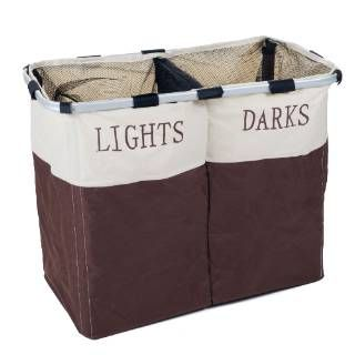 Check out the Lavish Home 82-53562 Foldable Double Laundry Hamper
