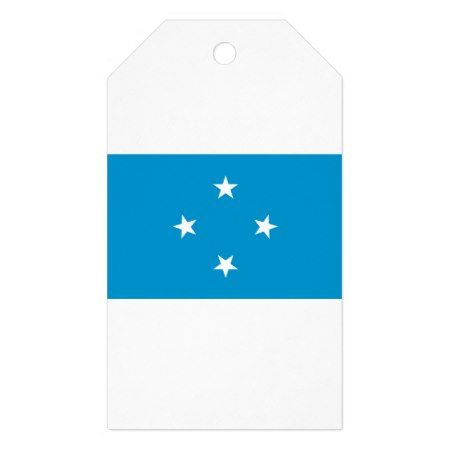 Low Cost! Federated States of Micronesia Flag Gift Tags - tap to personalize and get yours