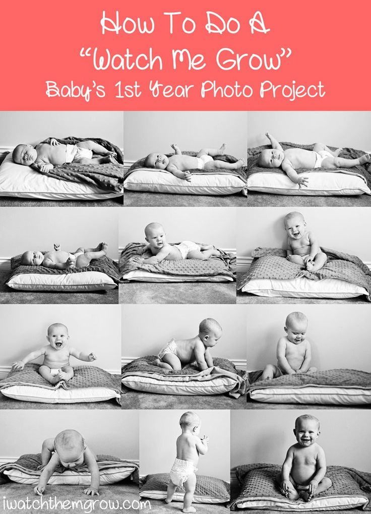 Monthly photo collage for baby's first year, how to do it yourself plus some great tips!