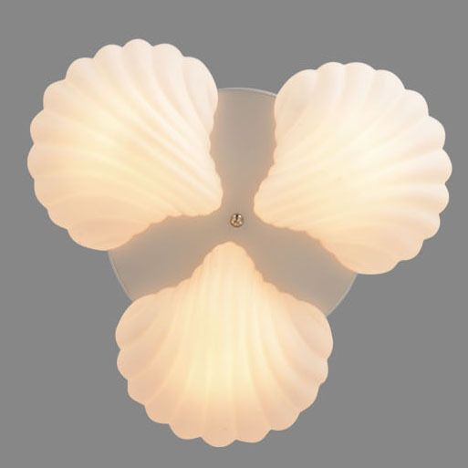 Glass Seashell Ceiling Light Fixture Tropical Rustic Chandelier Lamp Kid Bedroom #Soleilchat #Tropical