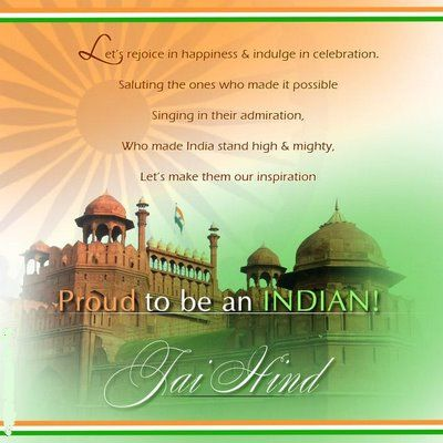 Independence Day Messages proud to be an indian