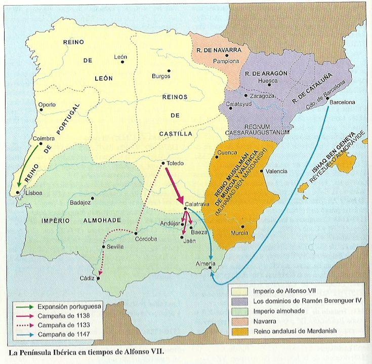 La Península Ibérica en tiempos de Alfonso VII
