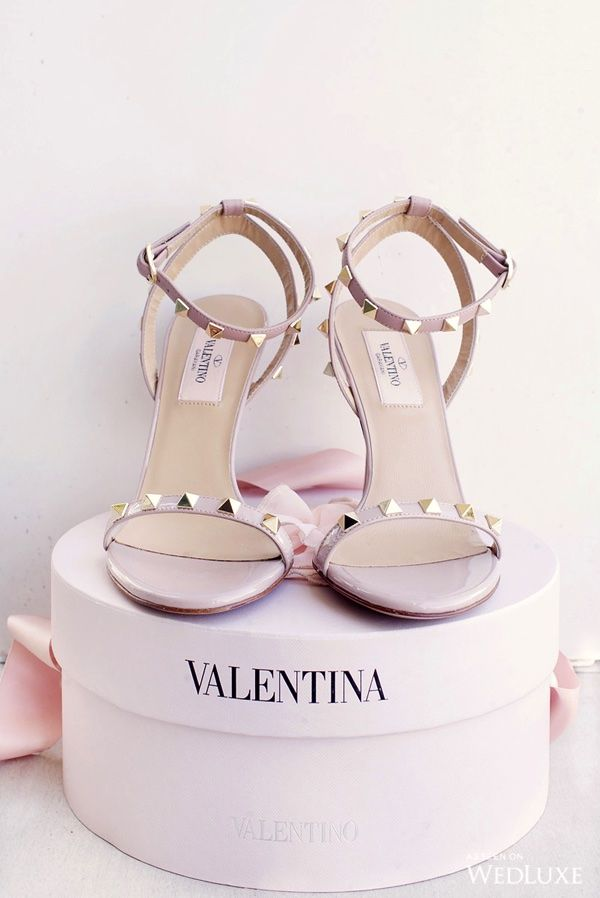 FOR THE SHOES || Blush Valentino rock stud heeled sandals || NOVELA BRIDE...where the modern romantics play & plan the most stylish weddings... www.novelabride.com @novelabride #jointheclique