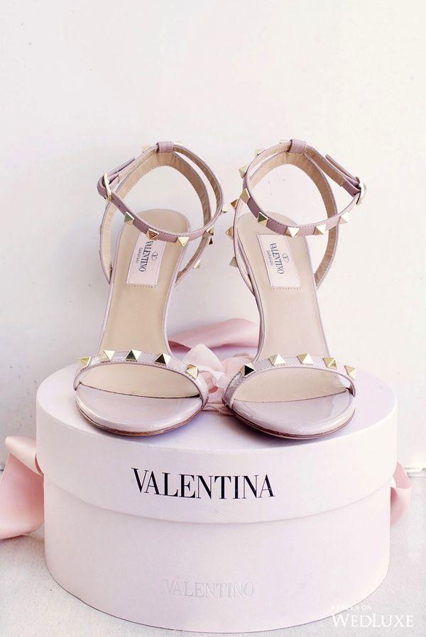FOR THE SHOES    Blush Valentino rock stud heeled sandals    NOVELA BRIDE...where the modern romantics play & plan the most stylish weddings... www.novelabride.com @novelabride #jointheclique