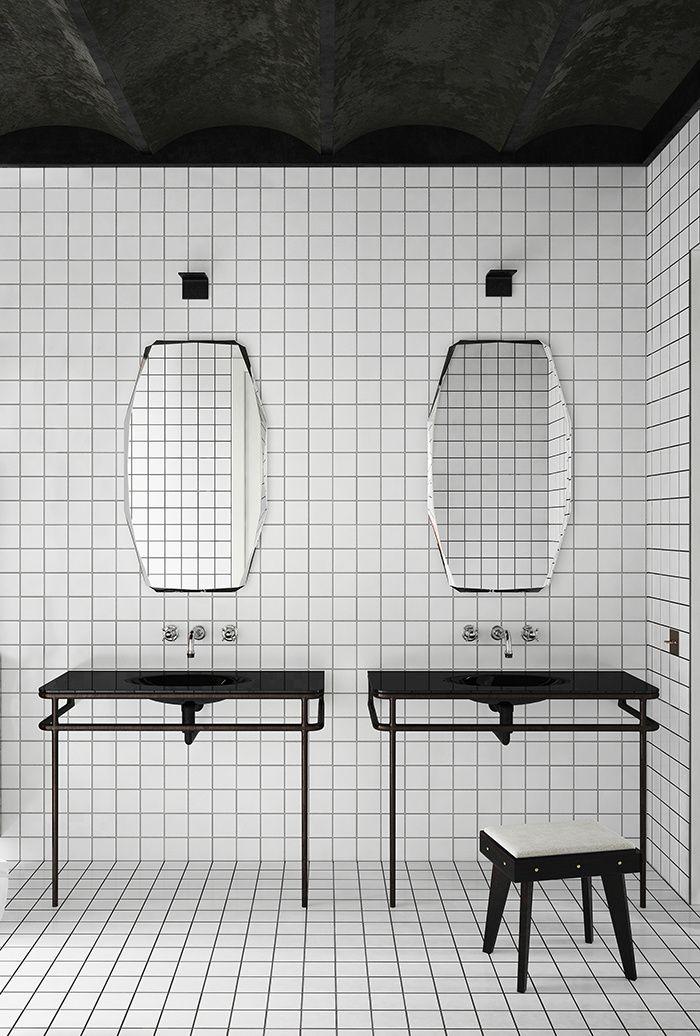 Les détails a suivre Le carrelage blanc eighties On se doutait bien qu'Andrée Putman ne partirait pas sans faire des émules… jusque dans la salle de bains ! Celle-ci, imaginée pour un appartement à Barcelone, affiche pleinement son parti pris : du carrelage blanc en all-over, et c'est tout. L'effet graphique est garanti.