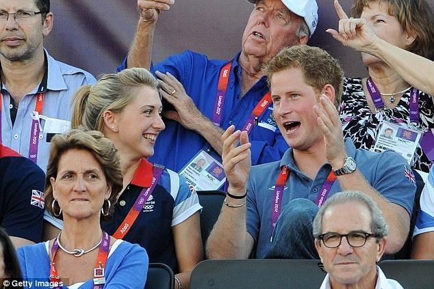 She looks smitten, but Laura is taken - her boyfriend is fellow Team GB cyclist Sam Harrison