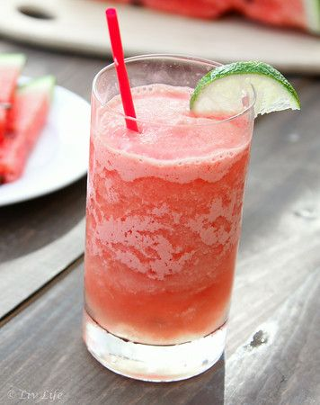 Frozen Watermelon Margaritas ... Yes! @livlifetoo