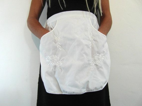 French maids apron white French vintage by frenchvintagedream