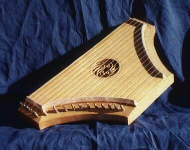 Psaltery, a medieval musical instrument.