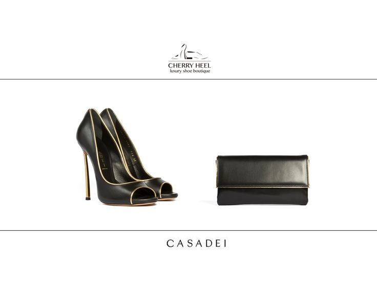 Perfect team in #black and #gold for your night-out!  #Casadei #pump and #clutchbag from #Summer2014 collection. Available in the #luxury #shoe #boutique #CherryHeel in #Barcelona and #online at http://cherryheel.com/en/31-casadei  #shoes #iloveshoes #shoppingbarcelona #madeinitaly #style #woman #fashion #italianfashion #italianstyle #bestshop #bestshoes #shoponline #musthaves