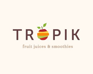 Tropik's logo essentially tells the consumer exactly what it is, which is not necessarily bad if fruit is all they wish to work with (and it probably is). Granted, this company does not even exist, but if it did, the consumers would know exactly what to expect and will likely never forget that this is a fruit product.