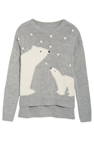 Buy Grey Polar Bear Sweater from the Next UK online shop