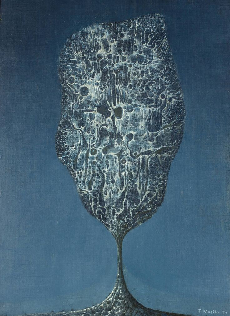 František Muzika - The tree in cobwebs (1971) #painting #Czechia #art #CzechArt