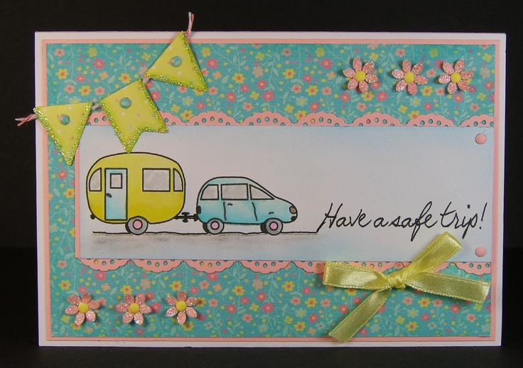 Designed by Allison Hugill using Little Claire digi Car and Caravan stamp