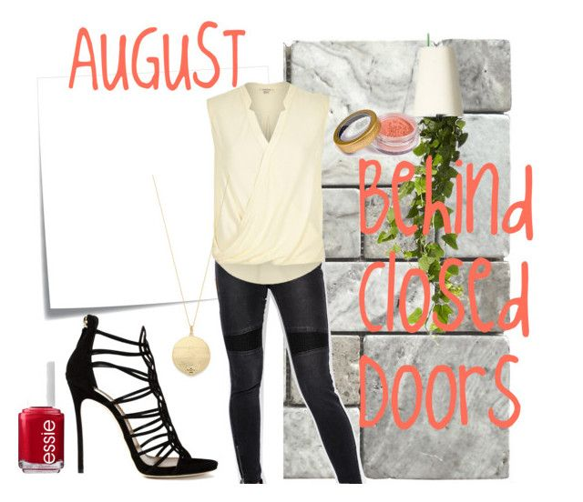 """""""August"""" by magazineboy on Polyvore featuring Post-It, VILA, River Island, House of Harlow 1960, Dsquared2, Boskke, Essie and Jane Iredale"""