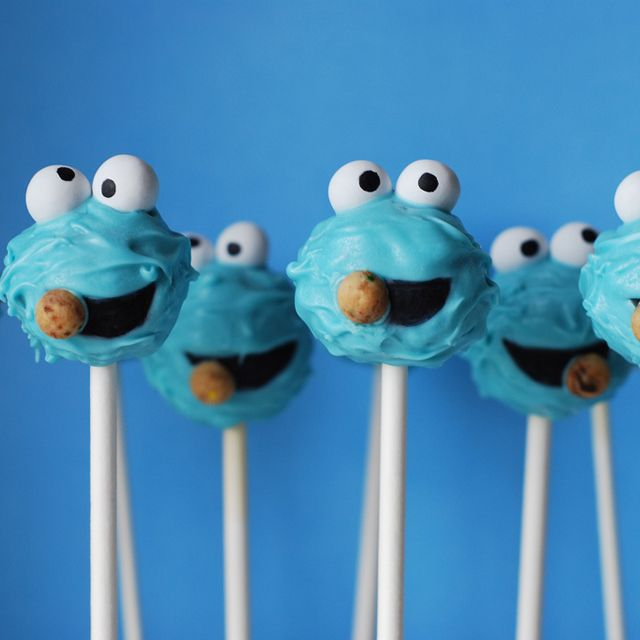 cookie monster cookie pops