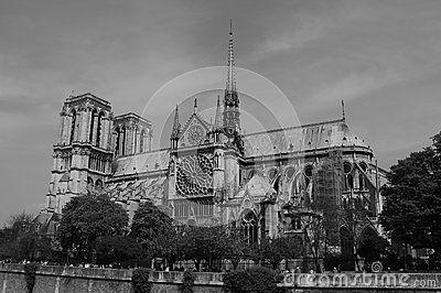 Нотр-Дам перемещения архитектуры собора Парижа