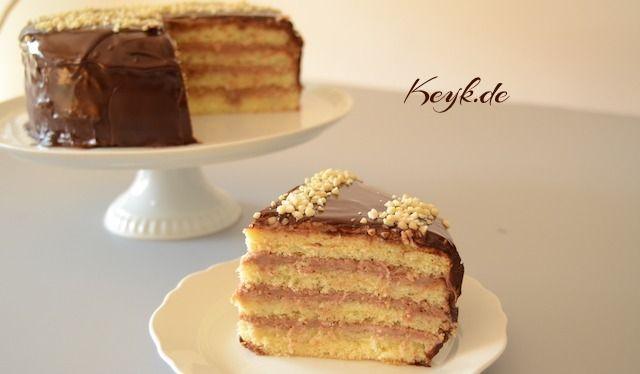 Nutella Mascarpone Fullung Mit Schokoglasur Kuchen Nutella Rezepte Nutella Rezepte Leckere Torten Nutella Kuchen