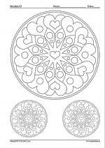 Färglägg mönstret - Alla hjärtans dag