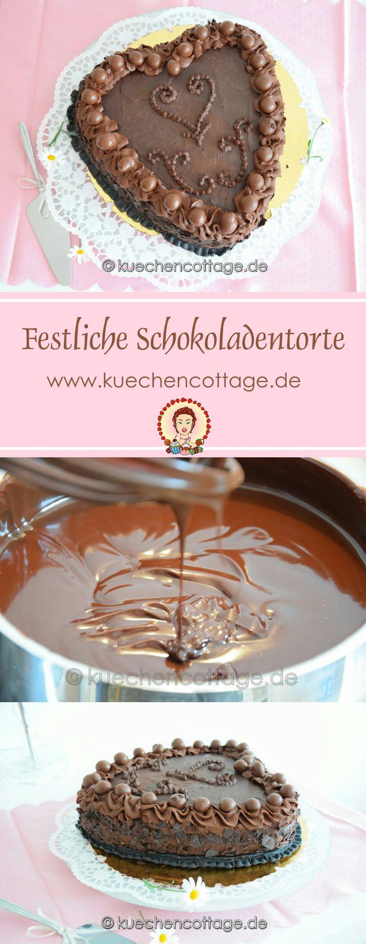 Festliche Schokoladen-Torte | Küchencottage…