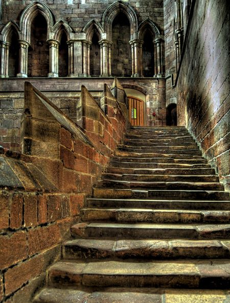 Abbey Steps - Hexham, Northumberland, UK - I remember standing under a stone alleyway eating a pasty in the rain with Brian. This was before we were married - the start of a beautiful thing.
