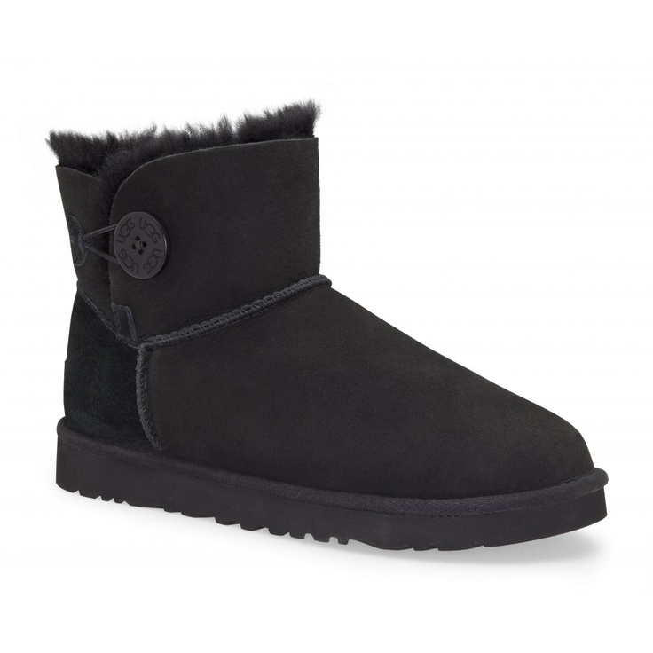 UGG Mini Bailey Button Womens Boot in Black Click to buy!