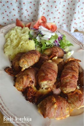 Barbi konyhája: Fetasajtos húsbatyuk baconköntösben