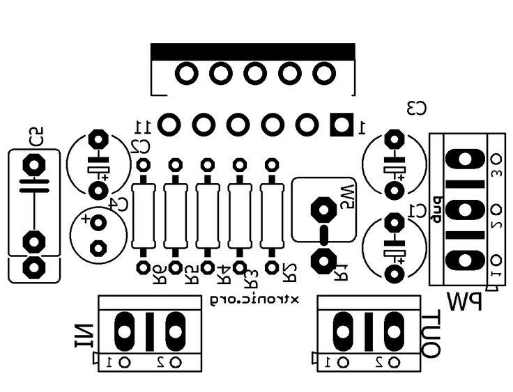 lm3886 minimus power gainclone pcb top