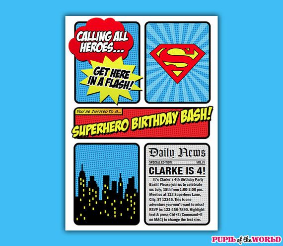 18 best Superman Party images – Superman Birthday Party Invitations