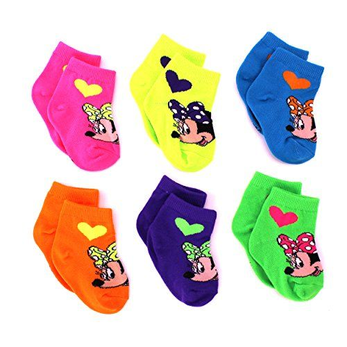 201 best minnie mouse so fabulous images on pinterest minnie minnie mouse baby 6 pk socks 18 24m neon heart minnie ankle negle Gallery