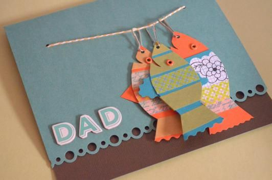 String of Fish Card for Dad