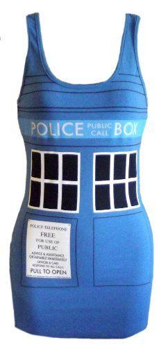 Doctor Who Tardis Blue Tank Dress - http://geekarmory.com/doctor-who-tardis-blue-tank-dress/
