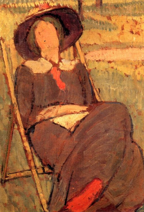Cave to Canvas, Vanessa Bell, Virginia Woolf in a Deckchair, 1912