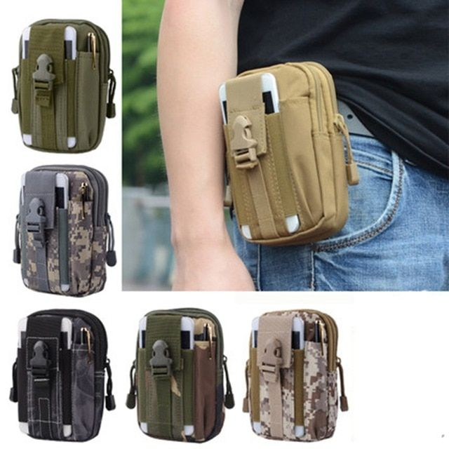 Tactical Camping Waist Belt Bag Outdoor Hiking Military Pouch Wallet Case