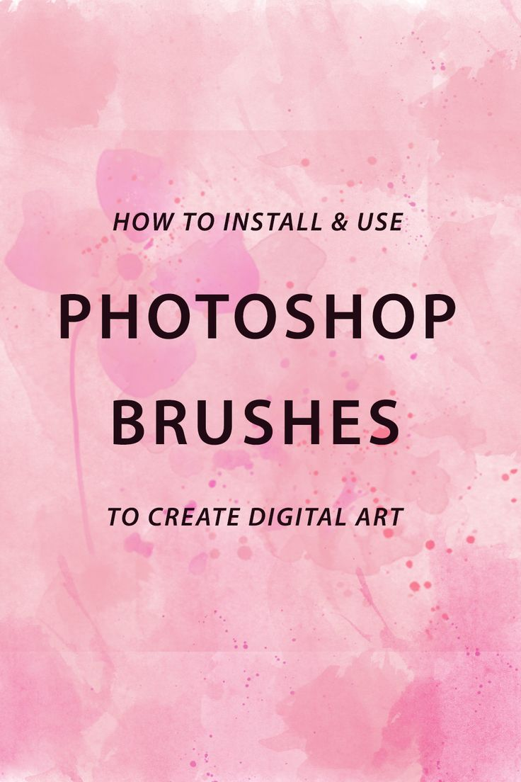 **** Learn how to install & use photoshop brushes to create digital art for your creative business and blog