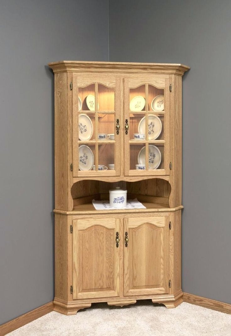 Amish Country Style Corner Hutch Choose Or