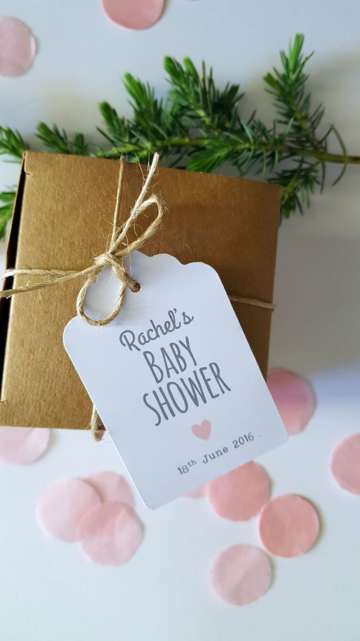 Personalised Baby Shower Favour Gift Tags - Set of 25 - GT055