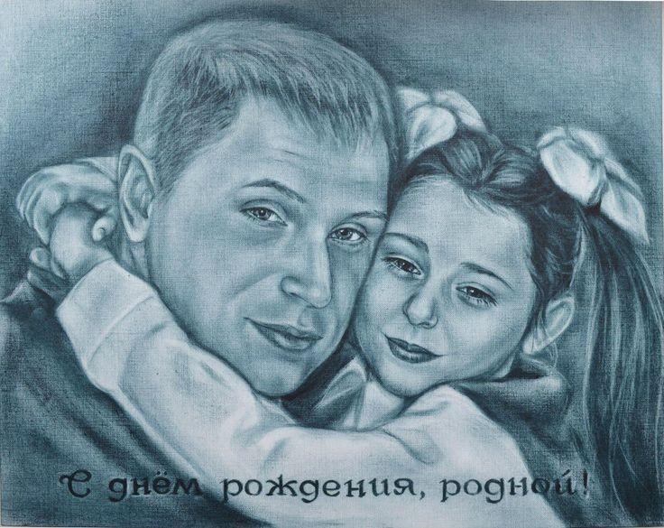 """Портрет: """"Сухая кисть""""   Любовь и уважение к родителям без всякого сомнения есть чувство святое🤔🙏 Наш сайт http://gallerr.ru Заказать http://gallerr.ru/fzakaza2 По вопросам пишите в личку"""