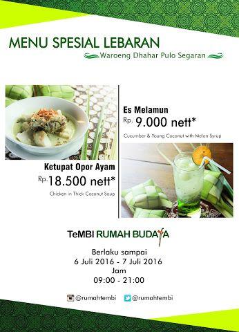"""waroeng Dhahar """"Pulosegaran"""" Tembi Rumah Budaya - Komunitas - Google+"""