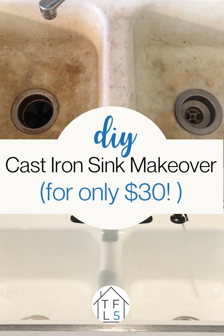 How To Refinish A Cast Iron Sink Sink Cast Iron Sink House Numbers Diy