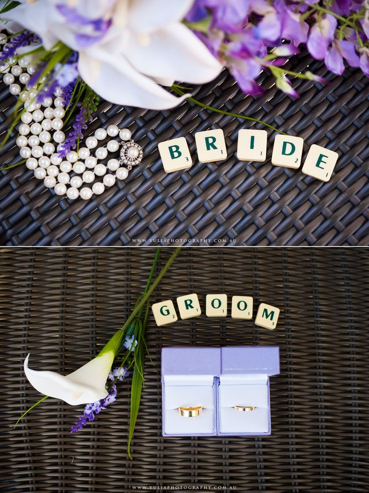 SCRABBLE themed Wedding Inspiration. ~Sydney wedding photography by Yulia Photography~ www.yuliaphotography.com.au