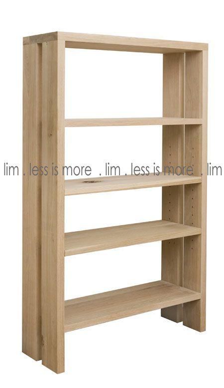 13SH - B3. 13SH - Rustic oak with rustic oak shelves